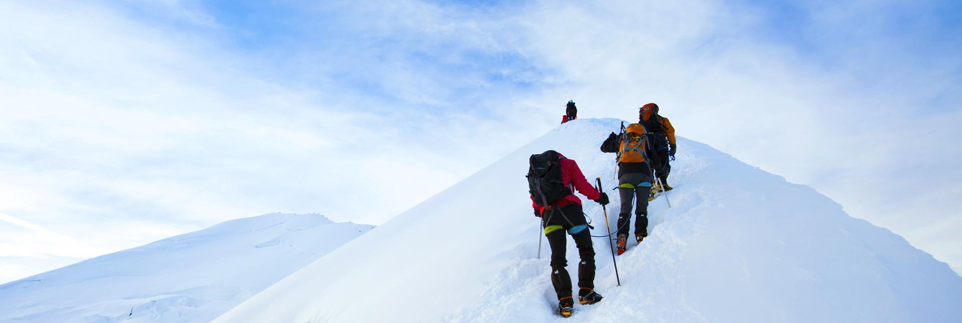 Ascending Mont Blanc
