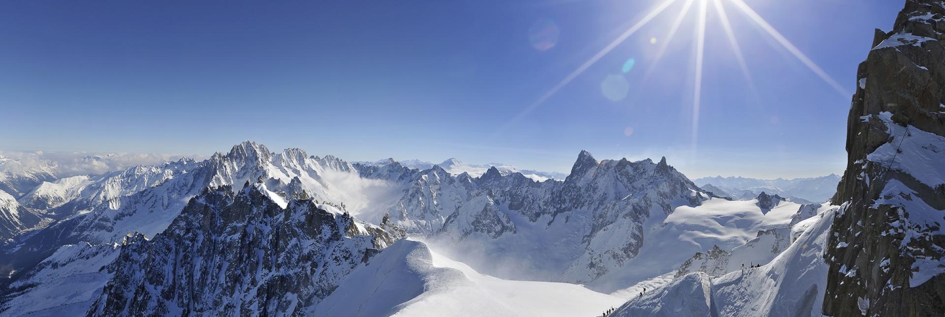 View of Amazing Snow Slopes