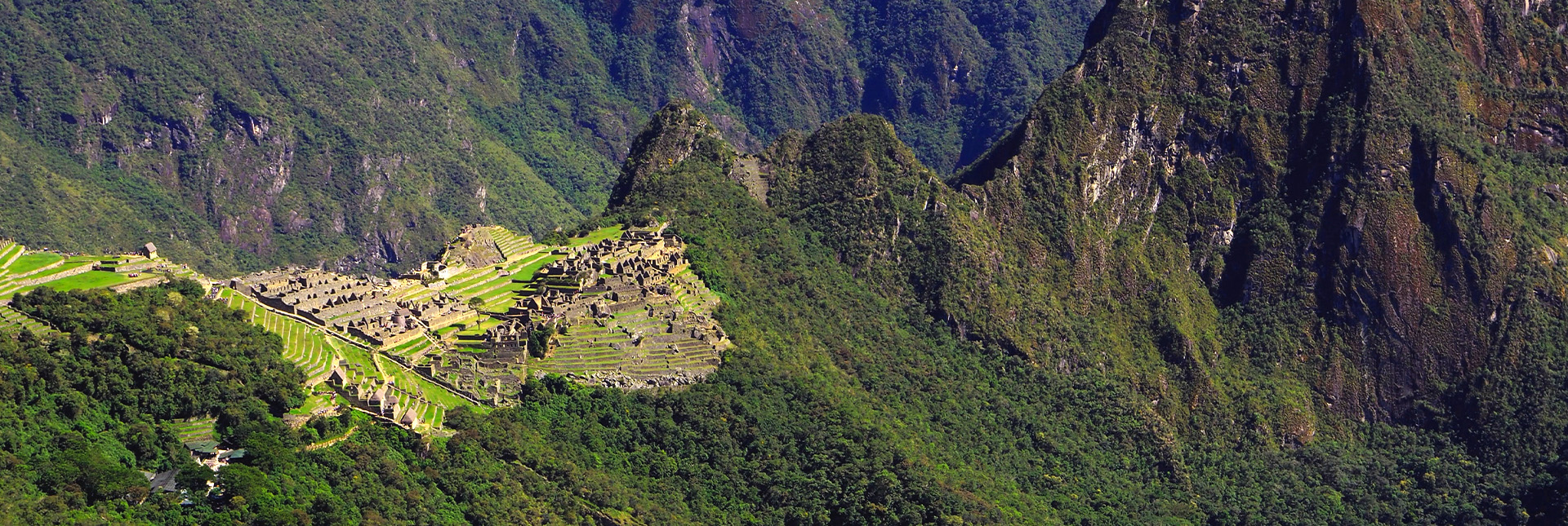 View of the Inca Ruins from a distance